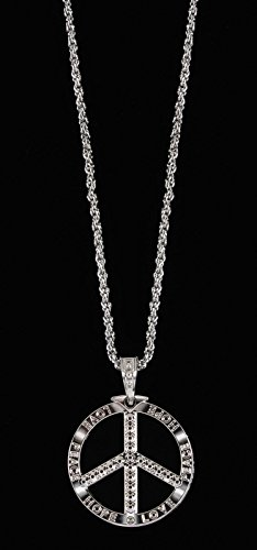 Loftus International Yeah Baby Peace Chain Necklace, Silver, One Size