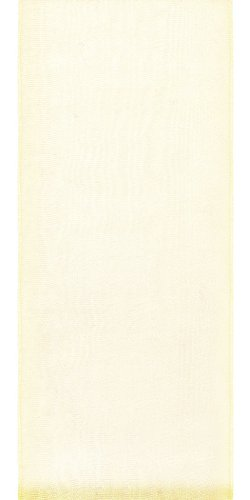 Offray Lady Chiffon Sheer Craft Ribbon, 5/8-Inch Wide by 100-Yard Spool, Cream