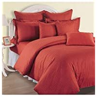 Swayam Sonata Jazz Cotton Double Bedsheet Set - Maroon (JAZZ 01-MAROON)