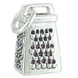 Kitchen Cheese Grater 925 Sterling Silver Traditional Cooking Charm or Pendant