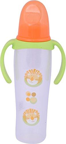 Baybee Baby Feeding Bottle With Handle, 250 Ml (Orange And Green)