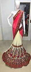Its All About Me Georgette Saree (EK12_Cream Pink)