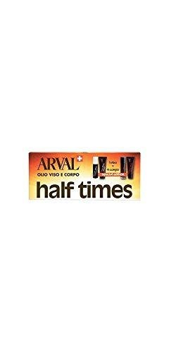 Arval Half Times Set Abbronzante Rapido 4+1 per Corpo e Viso, SPF 8 - 10x10 ml - Totale 100 ml