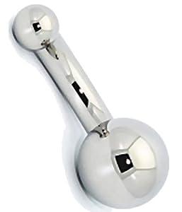 Big Ballin Curved Barbell, Nipple Barbell Jewelry, Eyebrow Barbell