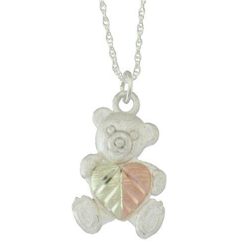 Black Hills Gold Sterling Silver Teddy Bear Pendant