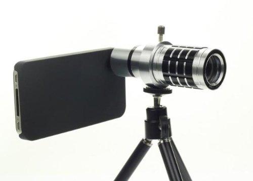 Mango Natural 12X Zoom Telescope Camera Lens Kit + Tripod + Case For Apple Iphone 5 5G
