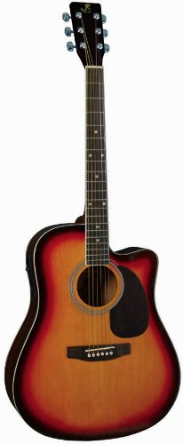 J Reynolds Jr70Aesb Full-Size Dreadnought Acoustic-Electric Guitar, Sunburst