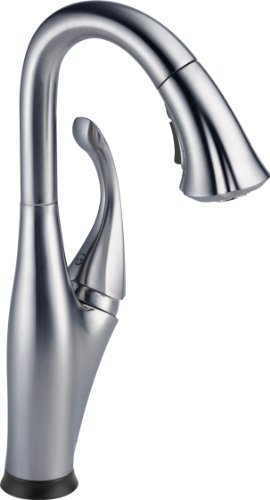 Delta Faucet 9992T-AR-DST Addison Single Handle Pull-Down Bar/Prep Faucet with Touch2O Technology, Arctic Stainless by Delta Faucet (Delta Addison Touch2o compare prices)