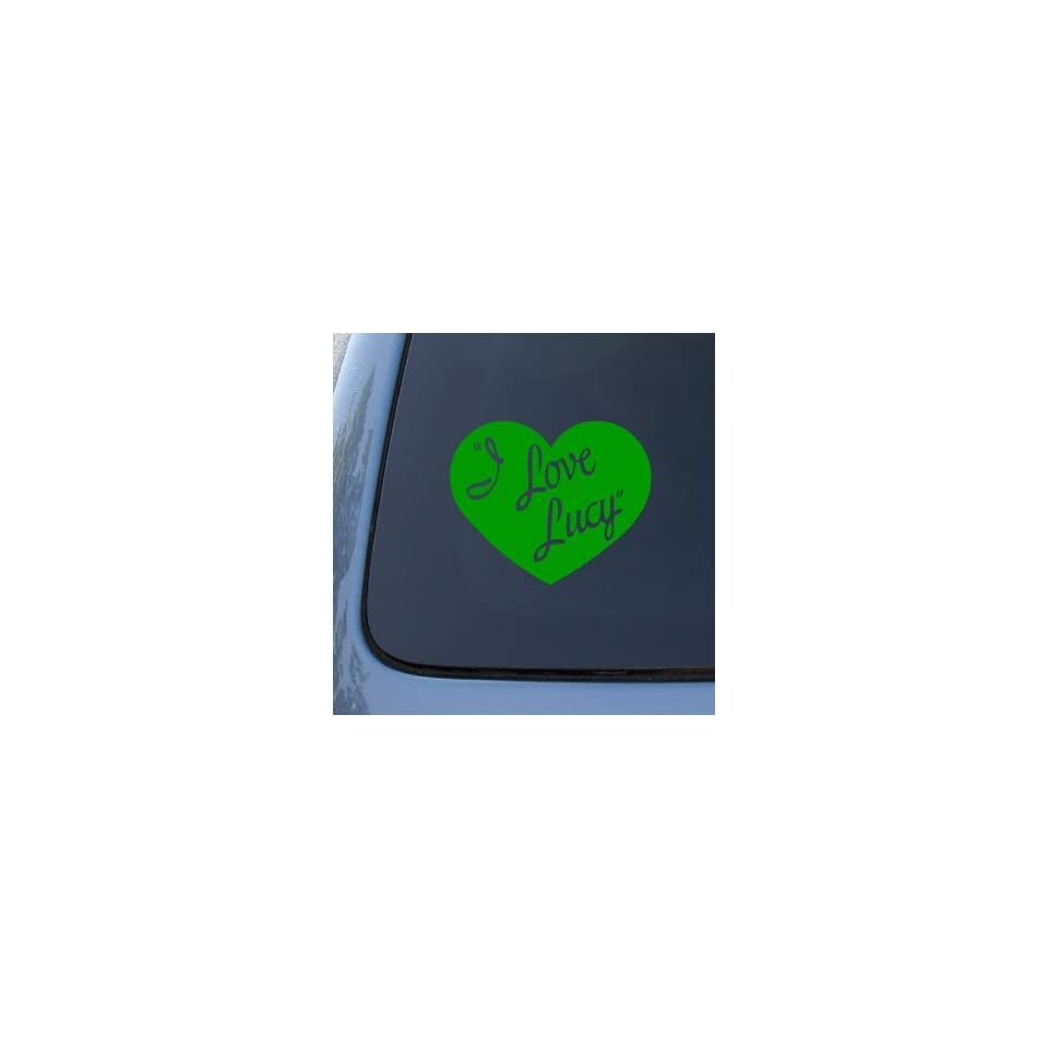 I LOVE LUCY   Lucille Ball   Vinyl Car Decal Sticker #1799  Vinyl Color Green