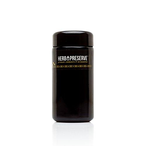 Herb Preserve Quarter Oz (100 ml) Capacity Medium Size Screwtop Jar Black Ultraviolet Refillable Glass Stash (Preserve Jars compare prices)