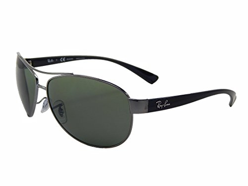 New Ray Ban RB3386 004/9A Gunmetal/ Green 67mm Polarized Sunglasses (Made In Italy Ray Ban Sunglasses compare prices)