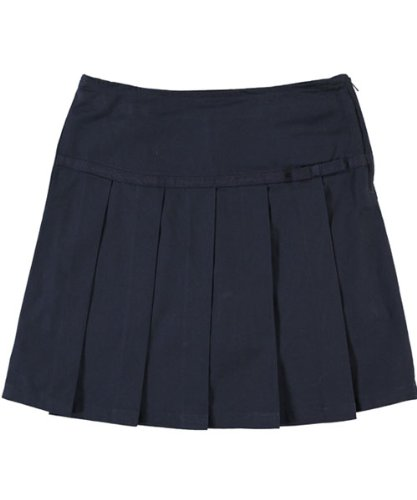 Pleated Scooter with Grosgrain Ribbon - navy, 8