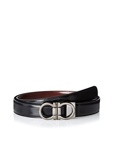 Salvatore Ferragamo Men's Reversible Smooth Leather Belt, Brown/Black