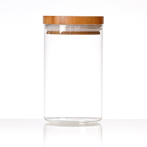 Glassery Airtight Glass Jar, 5-cup (Airtight Glass Storage Containers compare prices)