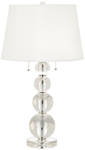 buy vienna full spectrum stacked crystal spheres table lamp the cheap. Black Bedroom Furniture Sets. Home Design Ideas