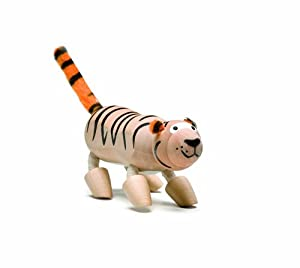 Amazon.com: Anamalz Wild Tiger Wooden Toy: Toys & Games