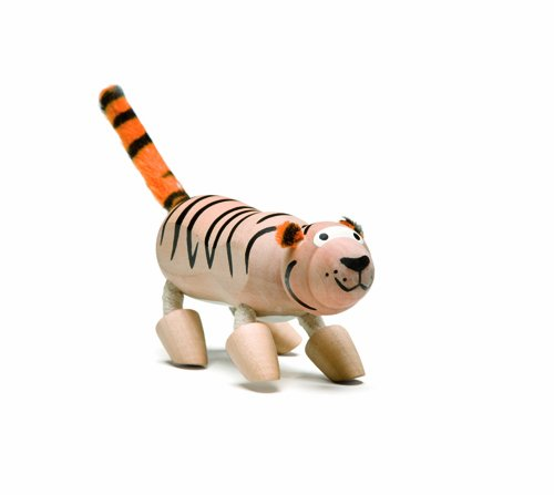 Anamalz Wild Tiger Wooden Toy - 1
