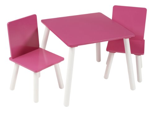 Kidsaw Blush Table and Chairs for 18 Months (Pink)