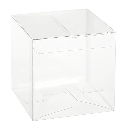 Ling's moment 2x2x2 Inch Clear Favor Boxes Wedding Party Shower Gift Boxes, Pack of 50 (Clear Plastic Box Packaging compare prices)