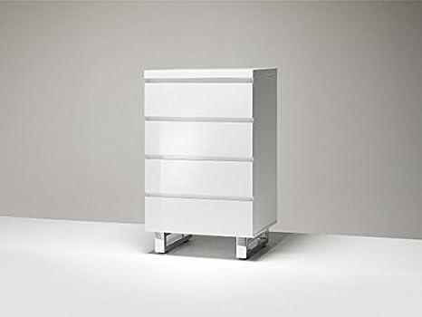 Kommode, Sideboard mit Schubladen, Hochglanz weiss, Höhe ca. 93 cm