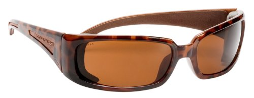Body Glove 90406 V-Line+ Dual-Lens High Impact Safety Glasses, Brown Frame Brown Lens