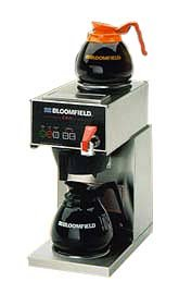 "Bloomfield 1040D2F E.B.C Coffee Brewer, Automatic, Two Warmer, In-Line, 17"" Depth, 8 3/4"" Width, 16 7/8"" Height front-264012"