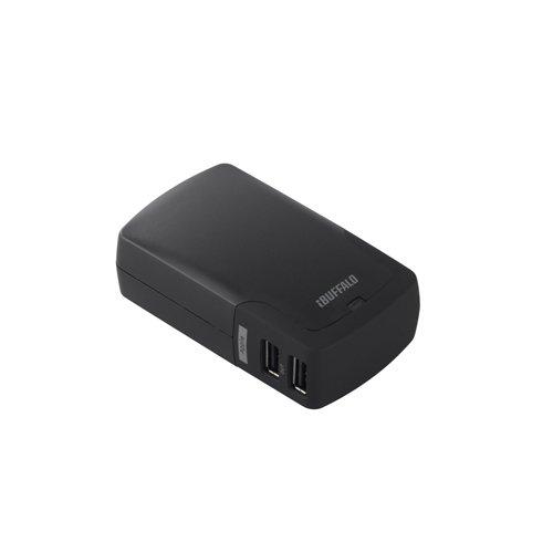 iBUFFALO+【iPadmini%2CiPad(Retinaディスプレイ)%2Cスマートフォン全キャリア・全機種対応+iPhone5+iPhone4S動作確認済】4A出力対応USB充電器+4ポートタイプ+ブラック+BSMPA09BK