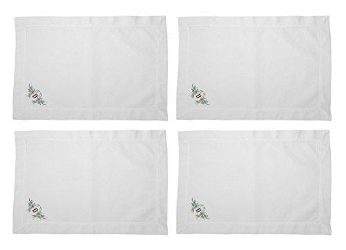 Botanical Angel Custom Monogram Linen Placemat, Letter D Set of 4 (Monogram Letter D Mat compare prices)