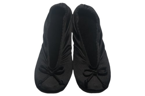 Image of Women's Satin Ballerina Slippers (B0046NM5DM)