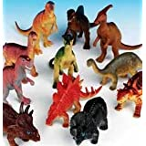 Rhode Island Novelty Assorted Jumbo Dinosaurs Up To 6-inch Long Toy Figures (12-Pack)