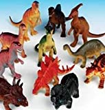 "Rhode Island Novelty Assorted Jumbo Dinosaurs Up to 6"" Long Toy Figures, 12-Pack"