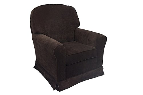 Fun Furnishings Comfy Cozy Skirted Vanity Glider, Chocolate - 1