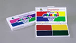 Primary Colors Stamp Pad; Washable Ink- Red, Blue, Green, Yellow; no. CE-SA540