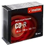 Imation i23262 - Cd -R 700Mb 52X Slim 10 80 Minutos Imprimible Inkjet Superficie Blanca