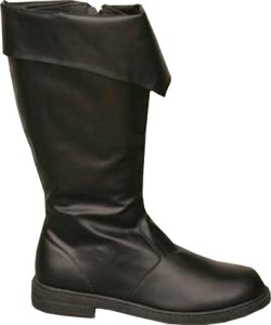 Boot Pirate Black Men Large Accessory