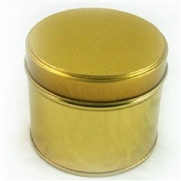 Lovely Round Iron Tea Box