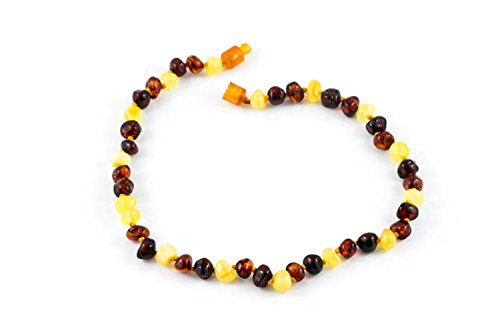 "Healing Hazel 100% Balticamber Baby Necklace, Multi Polished, 10.5"" - 1"