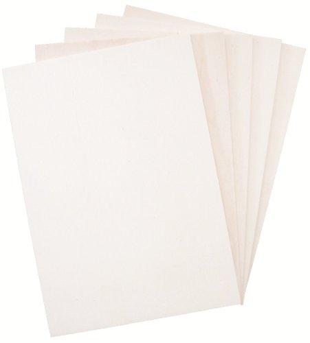 Hagspiel en bois blanchi Lot de 10. contreplaqué peuplier contreplaqué, plaques, 4mm 18cm x 42cm