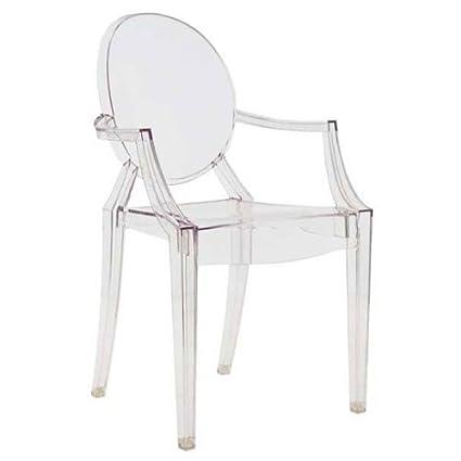 Kartell 4853B4 Chair Louis Ghost Clear