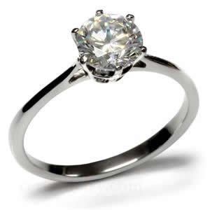 Stainless Steel 2 Carat Round Engagement Ring Size 5/6/7/8/9/10 (9)