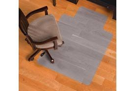"36""W X 48""L Chair Mat W/ 20"" X 10"" Lip For Hard Floor"
