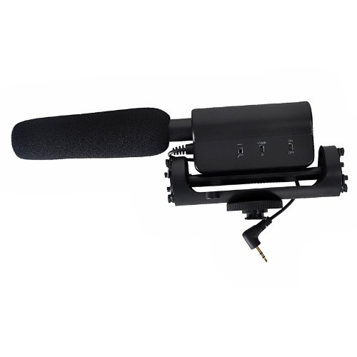 Dv Stereo Photography Interview Microphone For Dv Dslr Canon 5D Mkii 600D 60D Etc - Black