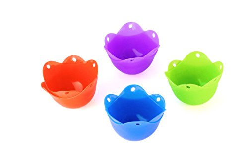 Silicone Egg Poacher - 8 Pack Egg Cups - Microwave Egg Cooker or Egg Boiler Cookware (8) (Electric Pasta Boiler compare prices)