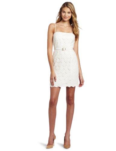 Trina Turk Women's Olivine Lined Dress, Ivory, 4