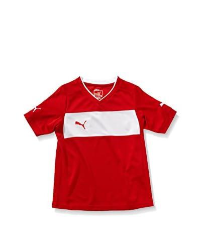 Puma Camiseta Manga Corta Powercat 3.12 Rojo / Blanco