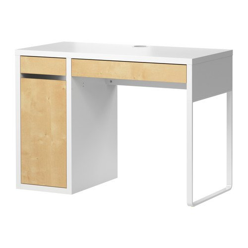 MICKE デスク,ホワイト,バーチ(IKEA) 301.800.52