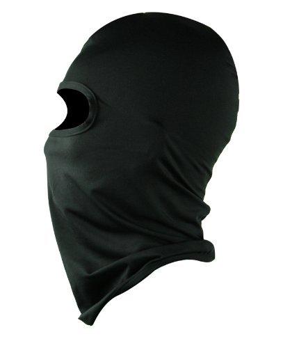 防寒、保温対策に!フェイスマスク 目出し帽 サラっとしたサテン生地です