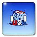 Deniska Designs USA - Made In The USA on Blue - Light Switch Covers - double toggle switch