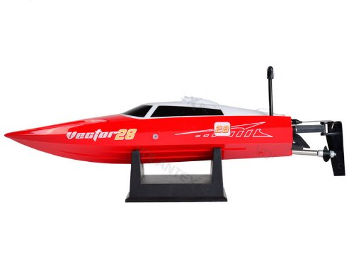 Vector28 2.4Ghz Radio Remote Control Micro High Speed Rc Racing Boat Speed Boat Rtr (Red)