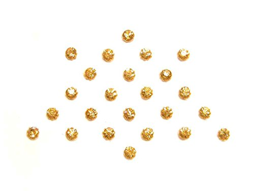 Tiny Crystal Dots Small Indian Bindi Body Stickers Large 23 Pack Yellow